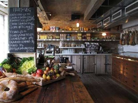 rustic modern interior   artisan deli