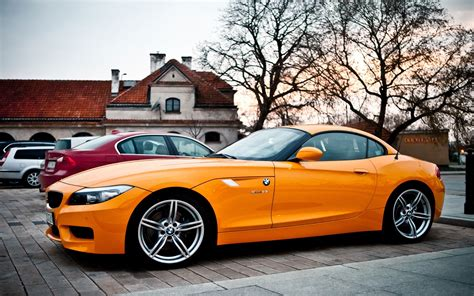 Bmw Z4 Hd Picture by Wallpaper Bmw Z4 Orange Car 1920x1200 Hd Picture Image