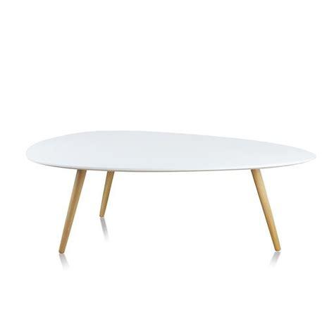 Table Basse De Salon Blanche Ovale  Pristina Achat