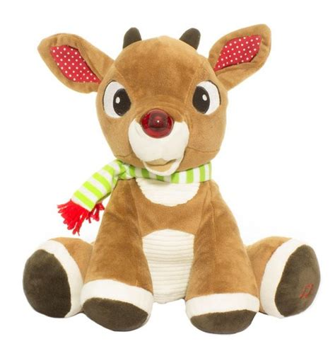 plush animatronic rudolph the nosed rudolph the nosed reindeer