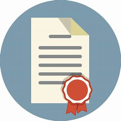 Document Icon Certificate Business Diploma Icons Legal