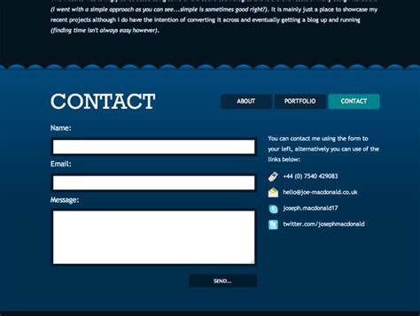 examples   designed contact pages psdfan