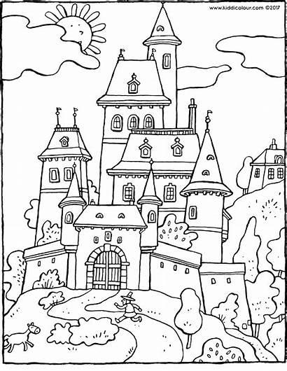Castle Fairy Tale Kleurplaat Kiddicolour Colouring Leeftijd