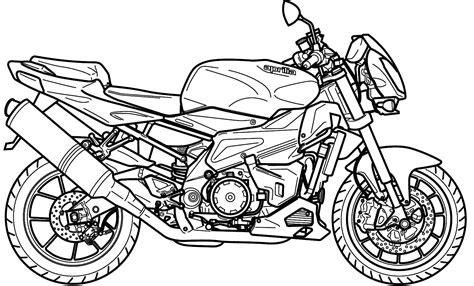 Desenhos para colorir Semana do Trânsito: Moto xj6