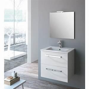Meuble De Salle : meuble de salle de bains blanc ou ch ne studio kit comfort cygnus bath bricozor ~ Nature-et-papiers.com Idées de Décoration