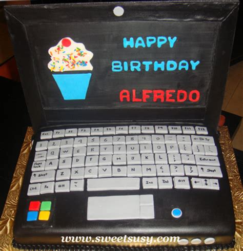 laptop cakes decoration ideas  birthday cakes
