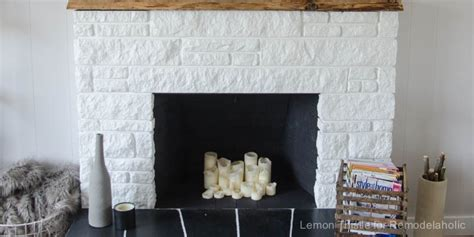 remodelaholic diy stone fireplace update   edge