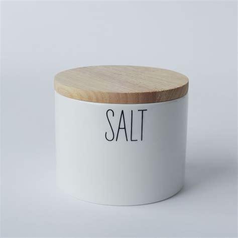 kitchen salt storage labeled kitchen salt box west elm 2519