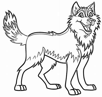 Husky Coloring Dog Pages