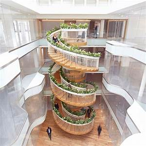Paul Cocksedge Spirals Living Staircase Through Ampersand U0026 39 S New London Office