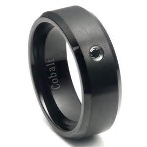 cobalt wedding rings cobalt chrome black plated black wedding band ring