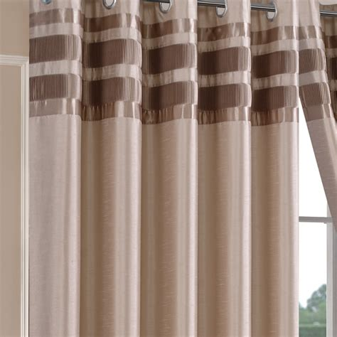 denver faux silk latte ready made eyelet curtains eyelet
