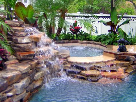 Simply Gorgeous Pool Waterfall Ideas