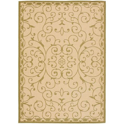 7 x 9 area rug safavieh courtyard green 6 ft 7 in x 9 ft 6 in