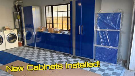 newage garage cabinets installation garage makeover part 2 newage performance plus cabinets