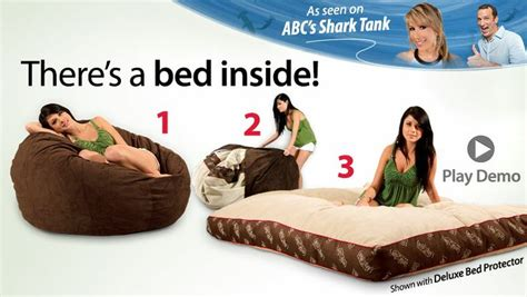 Bean Bag Bed Shark Tank by 17 Best Ideas About Bean Bag Bed On Heating