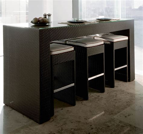 Table Bar 4 Personnes Cuisine Design Height Chairs Haute
