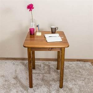 Tisch 60 Cm Breit : tisch kiefer massiv vollholz eichefarben 002 abmessung 75 x 60 x 60 cm h x b x t ~ Indierocktalk.com Haus und Dekorationen