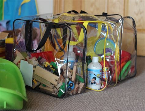 store clear toy storage bag