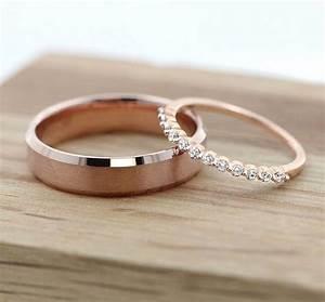 best 25 wedding rings rose gold ideas on pinterest rose With rose gold and silver wedding rings
