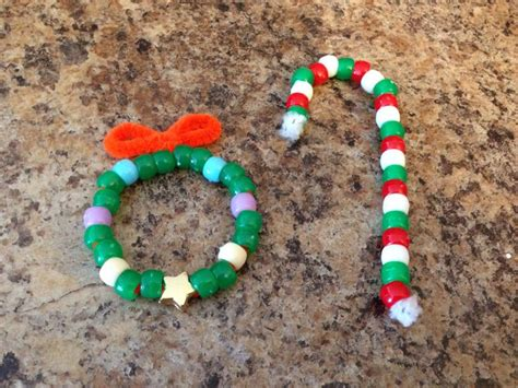 bead christmas crafts just use pipe cleaners and pony