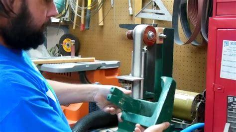 woodworking shop built belt sander dust collection