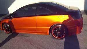 Candy Orange Honda Civic Si    Johns Restoration
