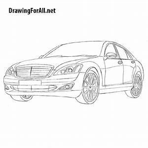How to Draw Mercedes S-Class W221 | Drawingforall.net