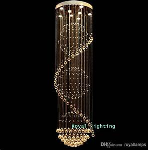 Crystal LED League Double Staircase Chandelier Modern