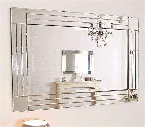 large silver triple bevelled edge venetian wall mirror