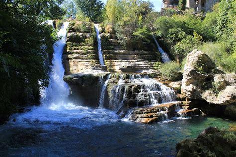 waterfalls  south  france rented  car  visit