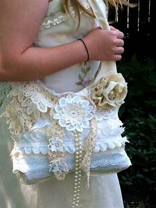 Retro Rucksack Selber Nähen : shabby chic cream ecru vintage lace purse bag pearls doilies muslin linen cotton white bridal ~ Orissabook.com Haus und Dekorationen