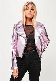 Metallic Pink Leather Jacket