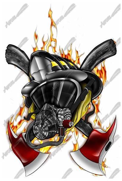 Firefighter Fire Fireman Tattoo Graphics Decals Mask