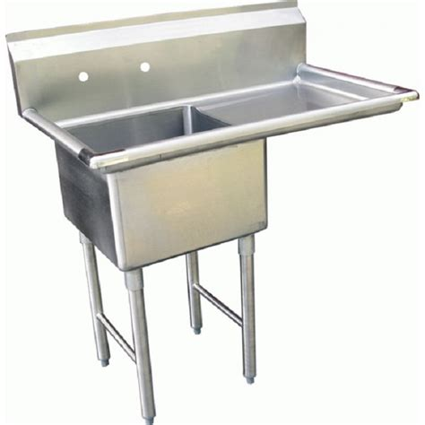 Prep Sinks With Drainboards by Gsw Se18181r One Compartment Stainless Prep Sink W Right