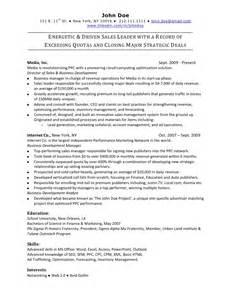 sle resume exles online sales resume sle