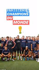 France's World Cup-winning heroes feted as they return to ...