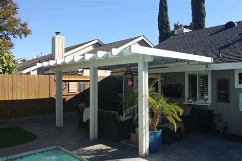 roof attached patio cover no end caps roseville ca