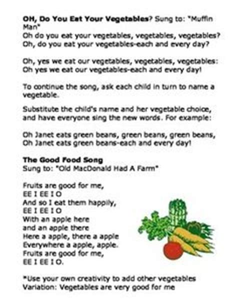 nutrition songs poems and fingerplays poem and songs 653 | 6fb737c1ca6633a4725b37279dc96b5c garden preschool songs preschool vegetable theme