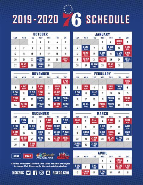 team announces regular season schedule philadelphia ers