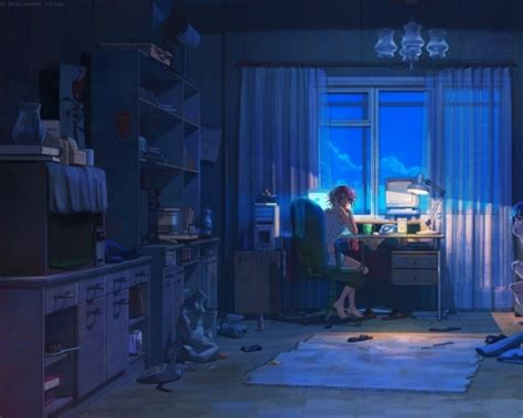 Anime Studying Wallpaper - a room other anime background wallpapers on