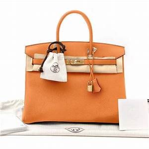 Hermes Birkin Bag 35cm Togo Orange Poppy  Hermes
