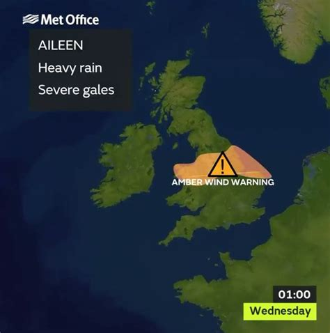 UK weather: Storm Aileen about to hit Britain with 75mph ...