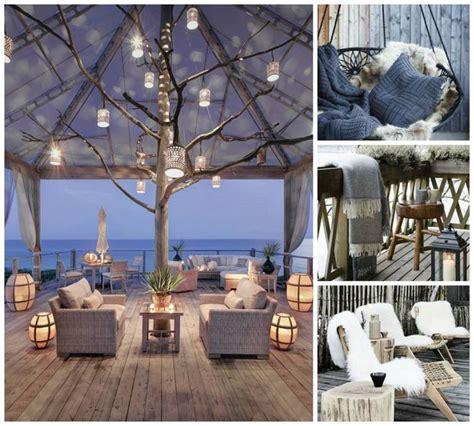 deco cuisines aménagement terrasse extérieur pour l 39 hiver en 45 idées