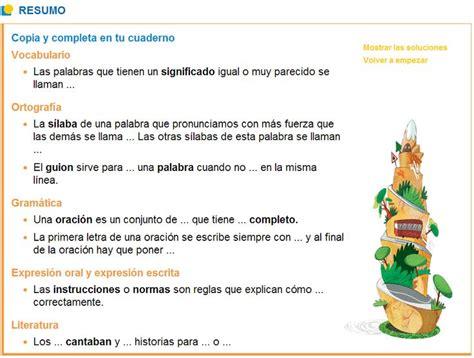 En Resumen Repaso De Vocabulario by 443 Mejores Im 225 Genes Sobre Recursos Lenguaje Lecturas Comprensivas Gram 225 Tica Y Ortograf 237 A En