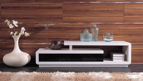 d3033 modern white and black tv stand from the tables