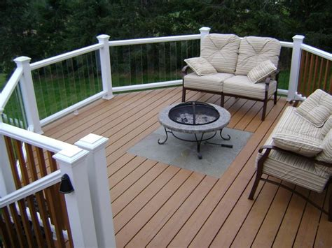deck pit ideas the importance of fire pit mat for wood deck ideas