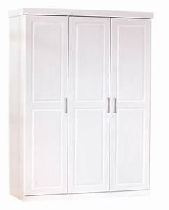 Armoire Chambre Blanche : armoire 3 portes pin massif blanc kantus ~ Teatrodelosmanantiales.com Idées de Décoration