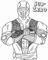 Mortal Kombat Coloring Pages sketch template
