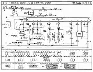 1991 Mazda B2600i  U0026 B2200 Wiring Diagram Legend  U0026 Color